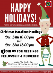 Christmas Marathon Meeting - December 24-25, 2017