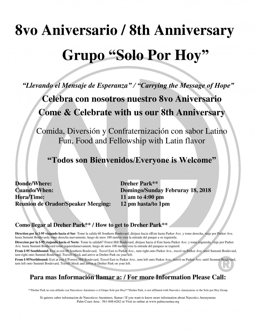 Solo Por Hoy 8th Anniversary Picnic - February 18, 2018