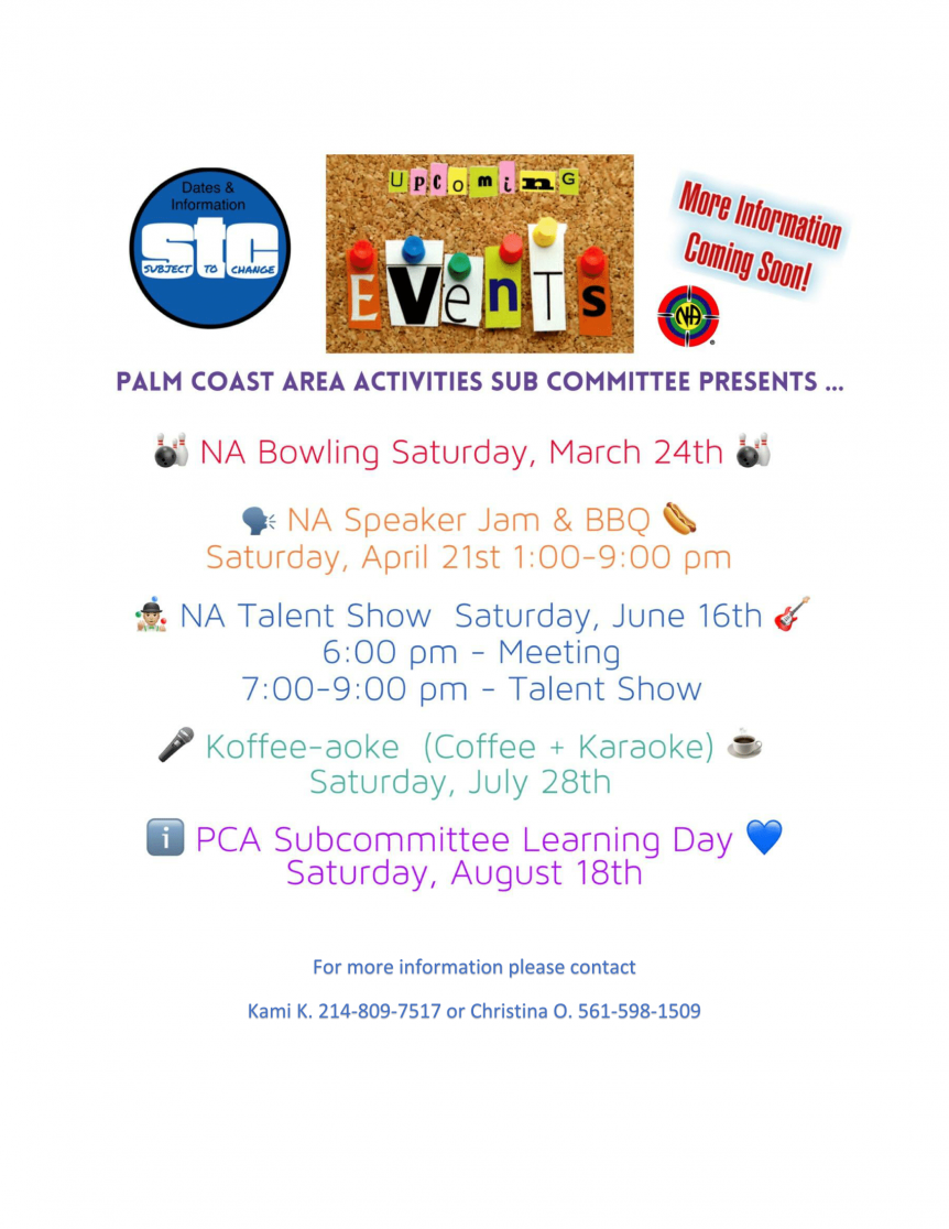 Palm Coast Area Activities Upcoming Events