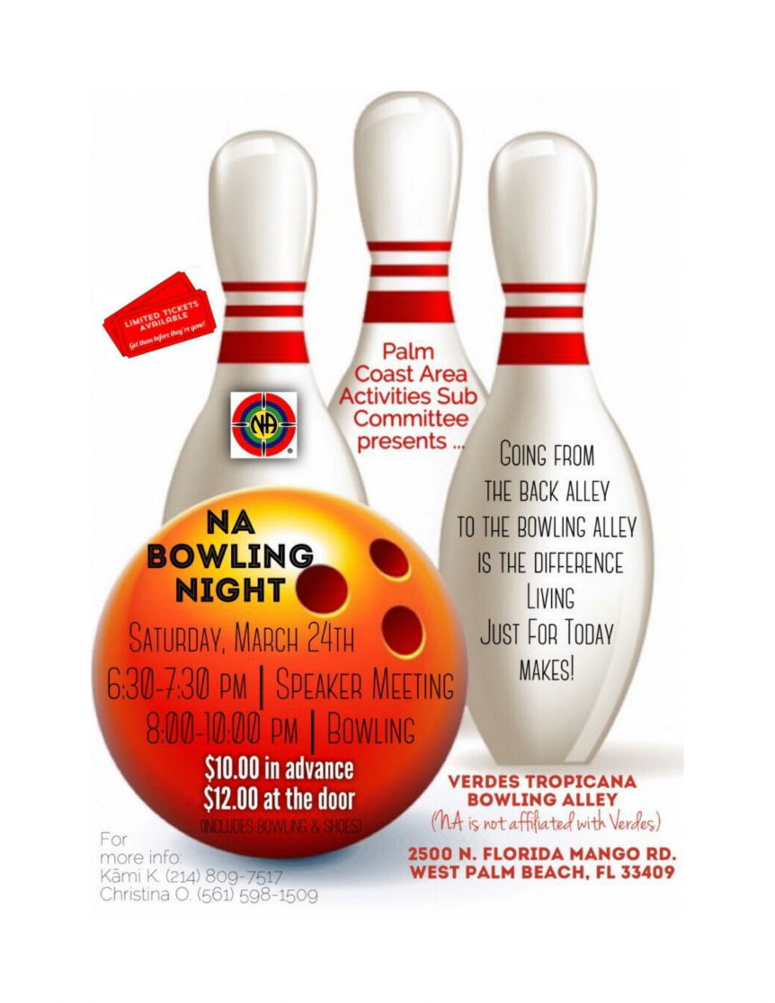 NA Bowling Night - March 24, 2018
